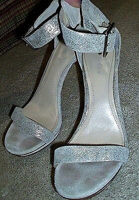 Calvin Klein Shoes Vivian champagne w/glitter Open Toe Stiletto Heels 8.5 M