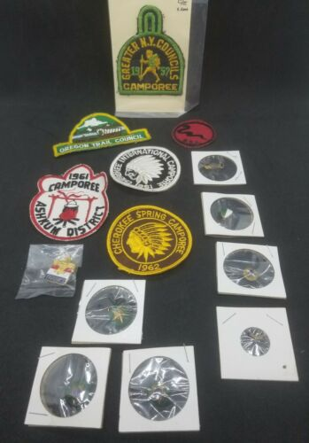BSA Boy Scout Patches and Pins Variety Mixed Lot Vintage 1950
