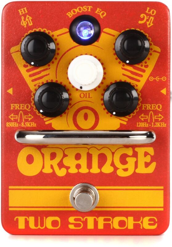Orange Two Stroke Boost EQ Pedal (Two-Stroked2)