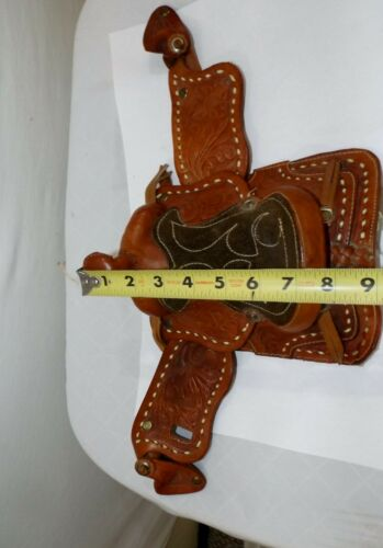 SMALL Antique Leather & Suede SALESMAN SAMPLE Miniature Horse SADDLE Western