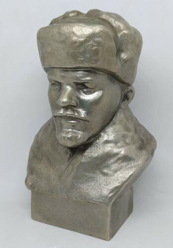 Soviet Russian leader LENIN  metal bust statue sculpture USSR