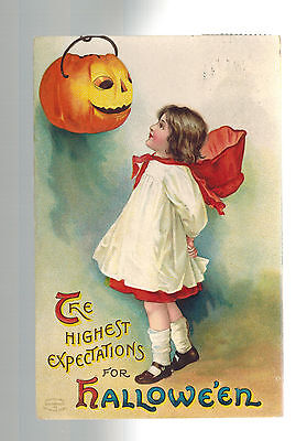 1911 Providence Embossed Postcard Cover The Highest Expectations for Halloween