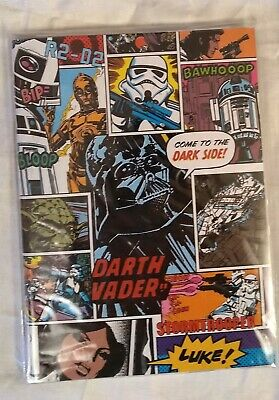 Star Wars A5 note book with clear dust jacket cover BNWT