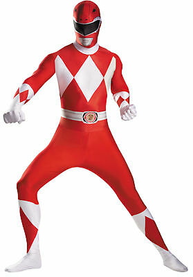 Rot Power Ranger Body Erwachsene Herren Kostüm Superheld Thema Party Halloween