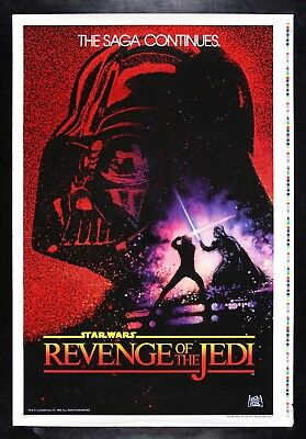 REVENGE OF THE JEDI ✯ CineMasterpieces PRINTER'S PROOF MOVIE POSTER STAR WARS