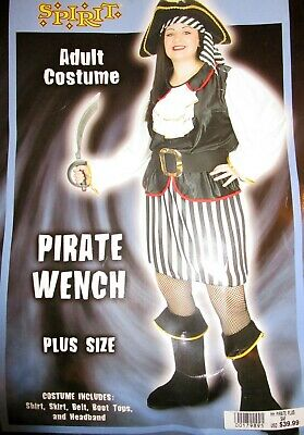 Plus Size Costumes Women (⚔ LADY PIRATE Spirit Halloween Dress Costume * PLUS SIZE * Swashbuckler VGUC)