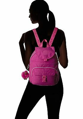 KIPLING NWT $94 Backpack Very Berry Pink Queenie Monkey Adjustable Straps Zip