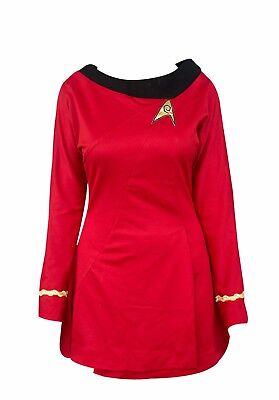 Star Trek Costume Uhura Red TOS Uniform Original Series Dress Skirt Skant