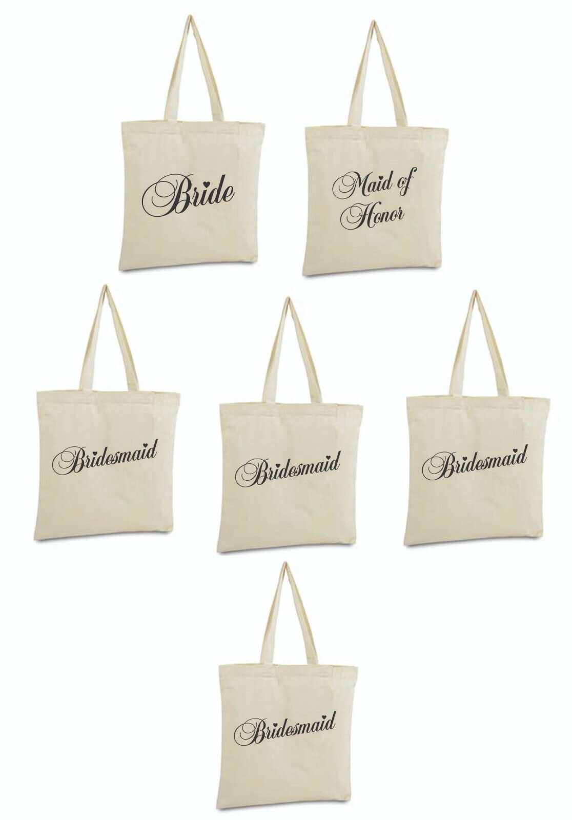 Bride Canvas Duffle Tote Bag Bridesmaid maid of honor Gift w