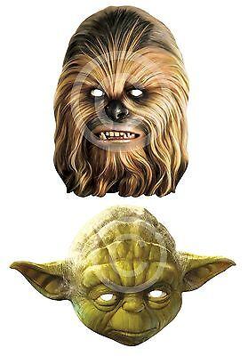Chewbacca oder Yoda # Karte Gesichtsmaske Kostüm Star Wars Buch Woche Zubehör