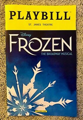 FROZEN playbill - *Discounted *Broadway* *FREE quick shipping* *Free Mini Flyers