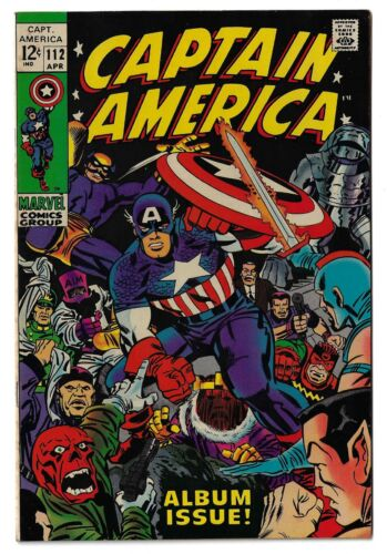 Captain America 112  VF  High Res Scans  -- Boxed Shipping