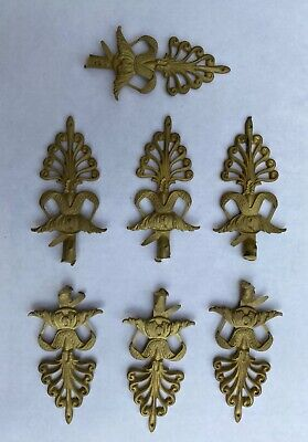Set of 7 regency style furniture mounts