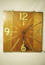 Vintage Large handmade wood wall clock primitive