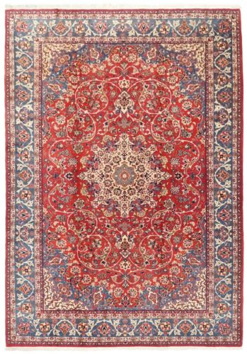 Hand Knotted Wool Red Blue Floral Fine Oriental Rug Carpet 8