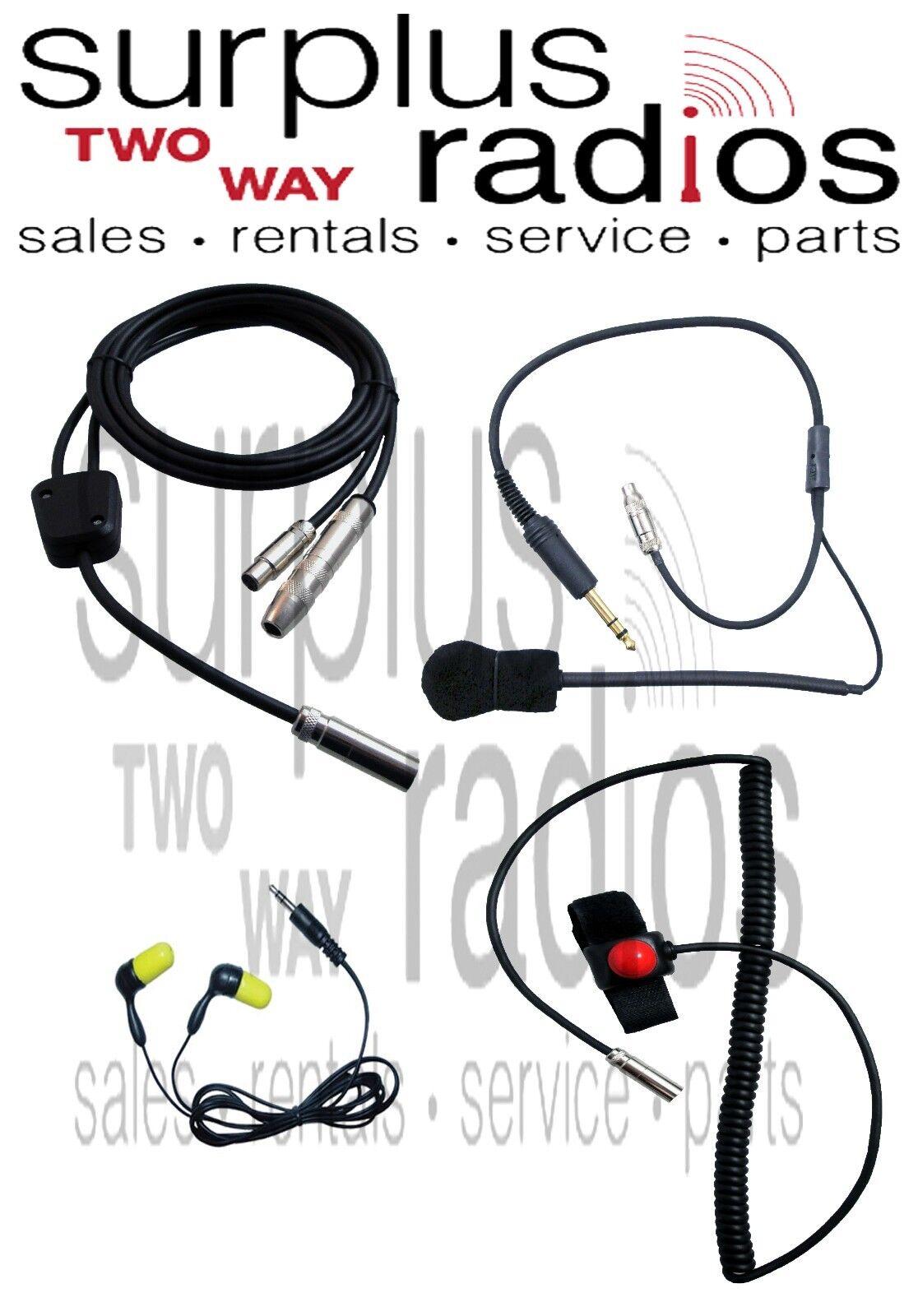 NASCAR RACING RADIO KIT PTT HELMET KIT EAR PLUG HARNESS MOTOROLA ICOM
