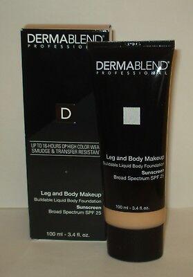 Dermablend Professional Leg and Body Cover -Fair Ivory 10 N  3.4oz/100 ml NIB