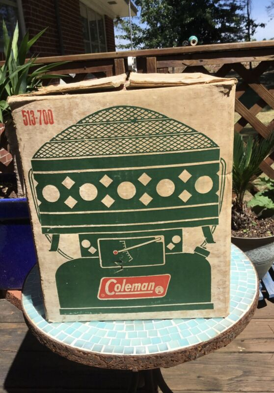 Vintage 1968 Coleman Catalytic Heater 513-700 3000-5000 BTU 6/68 In Box Clean!🦌