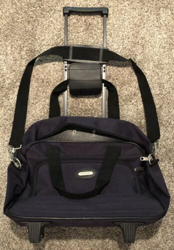 New Protocol Overnight Travel Luggage Bag With Shoulder Strap, Wheels, Lock - $19.99