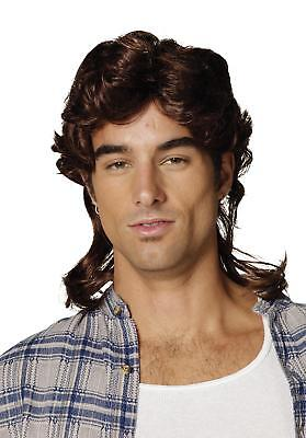 ADULT 80'S BROWN MULLETT REDNECK WHITE TRASH HILLBILLY WIG COSTUME ACC CA132 - White Trash Halloween Costumes