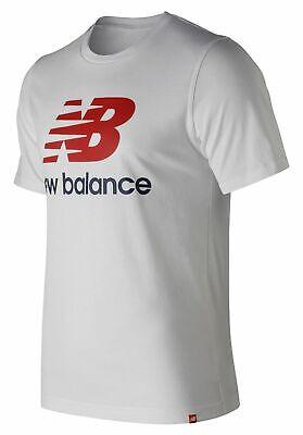 New Balance Men's Essentials Stacked Logo Short Sleeve Tee W