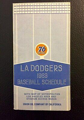 LOS ANGELES DODGERS 1963 SEASON SCHEDULE UNION 76 POCKET SCHEDULE Los Angeles Dodgers Pocket