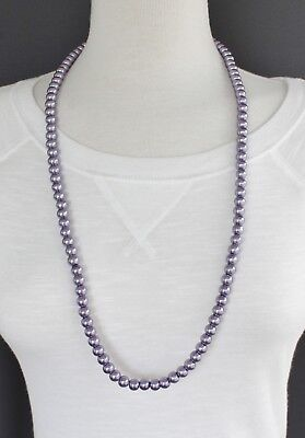 Purple faux pearl necklace 30
