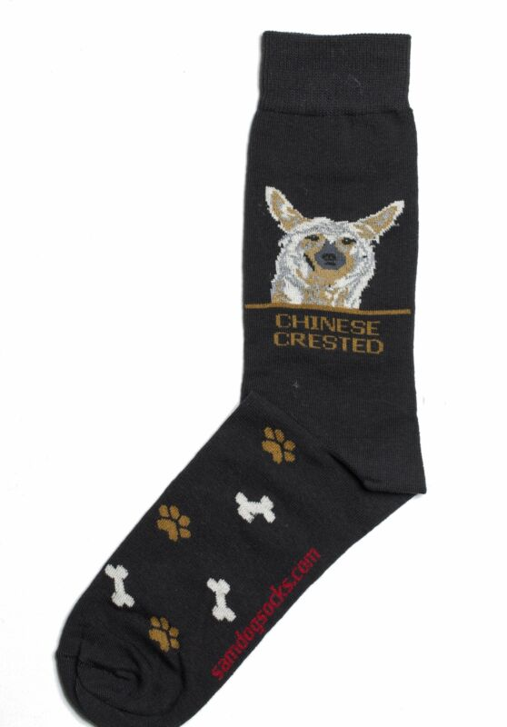 Chinese Crested Dog Socks Mens