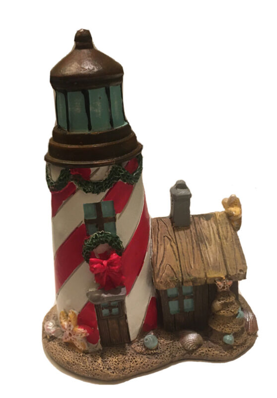 "Vintage 5"" FG Holiday Resin Lighthouse"