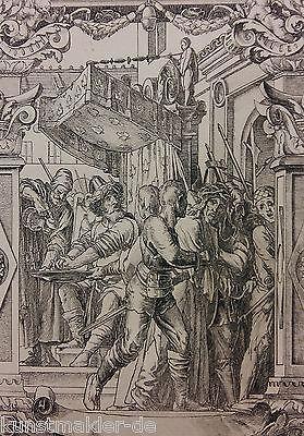 Hans HOLBEIN (1497-1543) Radierung Max Rade Dresden (1840-1917) La Passion 05/10