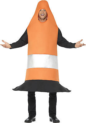 Lustiges Verkehrsleitkegel Kostüm für Erwachsene NEU - Damen Karneval Fasching V