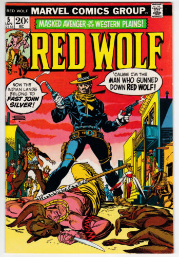 Red Wolf #5 Very Fine 8.0 Syd Shores Art Marvel Western 1973
