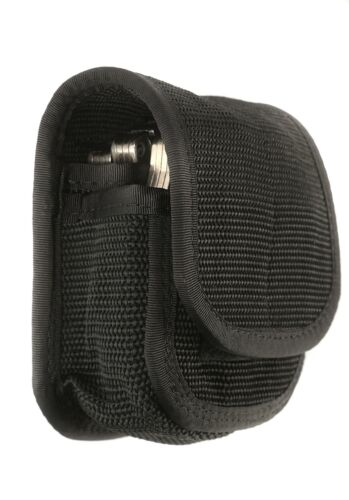 Law Enforcement Black Double Handcuff Cuff Case Pouch