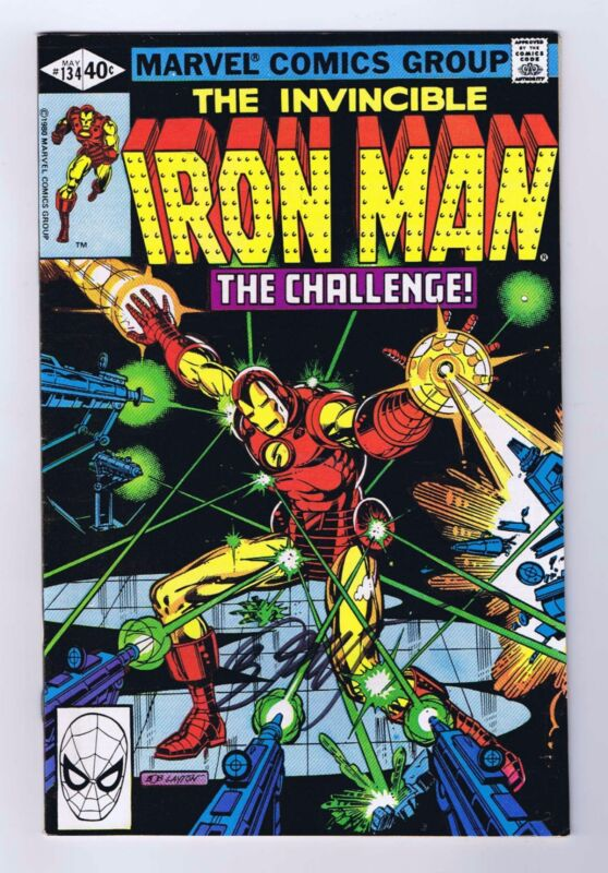 Iron Man #134 Signed w/COA Bob Layton VF/NM 1st Print 1980 Marvel Comics