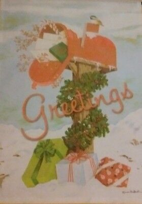 Christmas Mailbox Greetings Impressions Decorative Large Flag - New Creative  ()