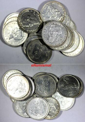 Lithuania Silver 1936 5 Litai Jonas Basanavičius  XF-AU RANDOM PICK (1 COIN)