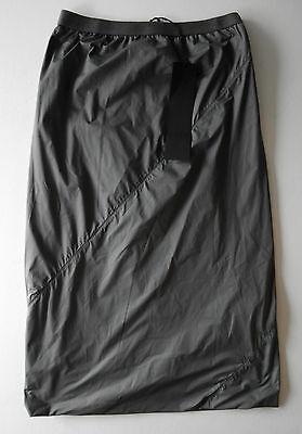 gareth pugh GREY ELASTIC BAND waist nylon skirt it38 usa 2 NEW CLEARANCE