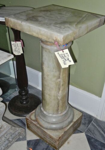 ANTIQUE  LARGE ONYX   PEDESTAL COLUMN  STAND
