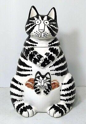 Kliban Cat Cookie Jar with Kitten by Sigma The Taste Setter