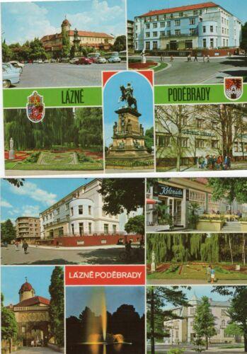 Lot of 2 Vintage Czechoslavakia postcards - Never mailed - LAZNE PODEBRADY