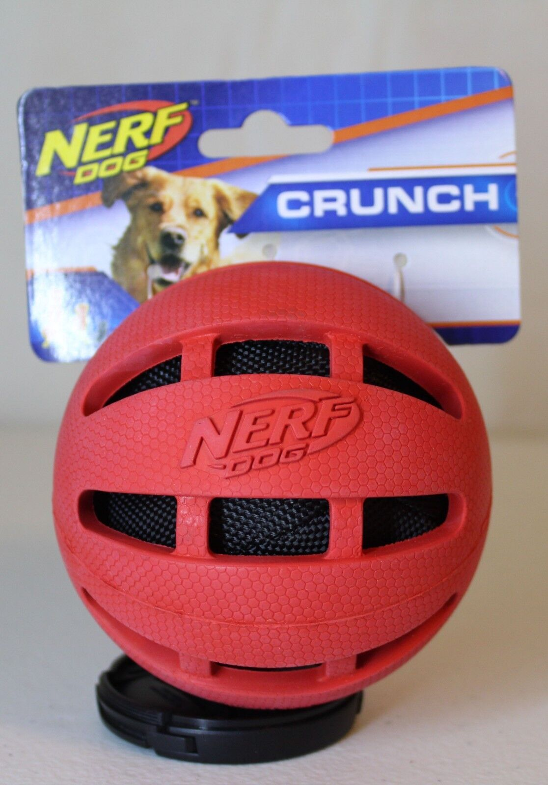***NEW*** Nerf Dog Checker Crunch Ball, Red 3.8 in.