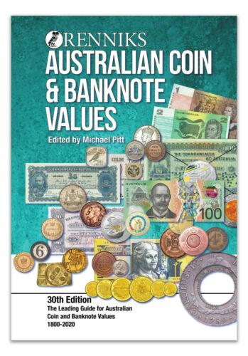 Australia Coin & Banknote Catalogue Renniks 30th Edition 2020 Softcover