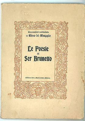 LE ESPRESSIONI MEDIANICHE DI NINO DI MAGGIO LE POESIE DI SER BRUNETTO VILLA 1950