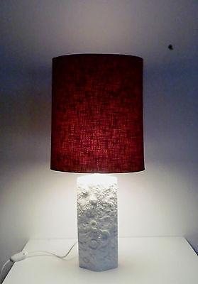 Base Porzellan Lampe (70s Alboth & Kaiser Porzellan Lampe relief porcelain matte lamp base annees 70)