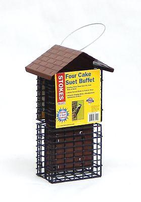 Stokes Select Four Cake Suet Buffet Bird Feeder with Metal R