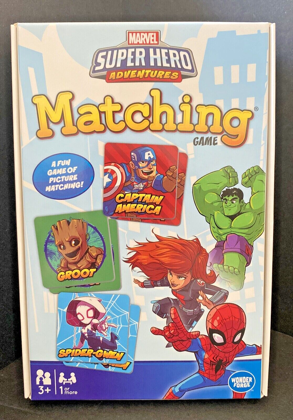 MARVEL Super Hero Adventures Memory Match Game 36 Cards Kids Educational NEW