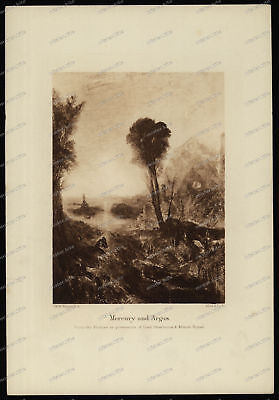 Druck-Stahlstich-Engraving-J.M.W.Turner.R.A Allen&Co.Sc.-Mercury and Argus-73