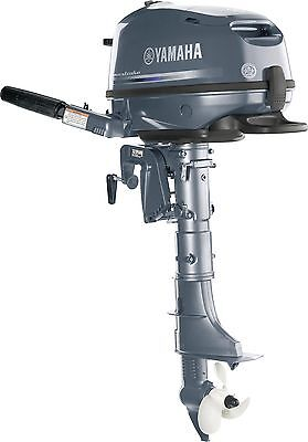 "New 6 hp Yamaha 4-Stroke Outboard motor 15"" shaft Model No. F6SMHA"