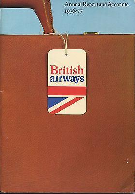 BRITISH AIRWAYS ANNUAL REPORT 1976/77 CABIN CREW PICS
