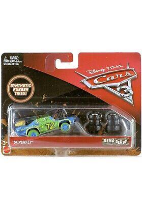 """Mattel Disney Cars 3 Demo Derby """"Superfly"""" Die Cast NEW In Original Package."""